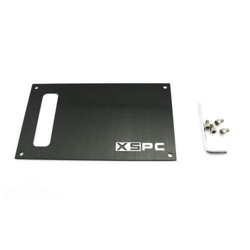 XSPC Placca Sostitutiva con Viti di Alluminio Nera 5060175583420