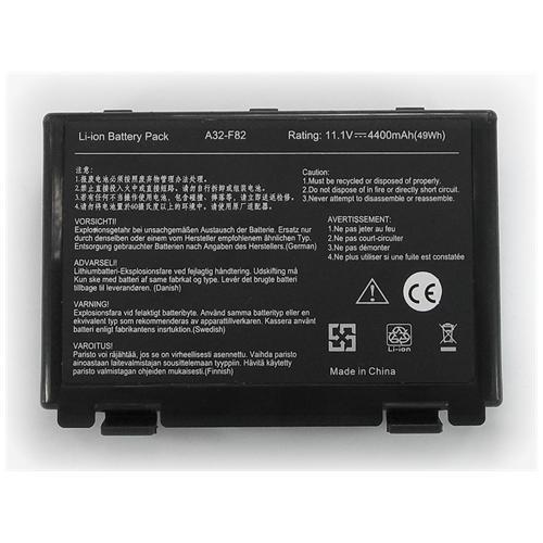 LI-TECH Batteria Notebook compatibile per ASUS K51AC-SX038V 6 celle 4400mAh nero 48Wh