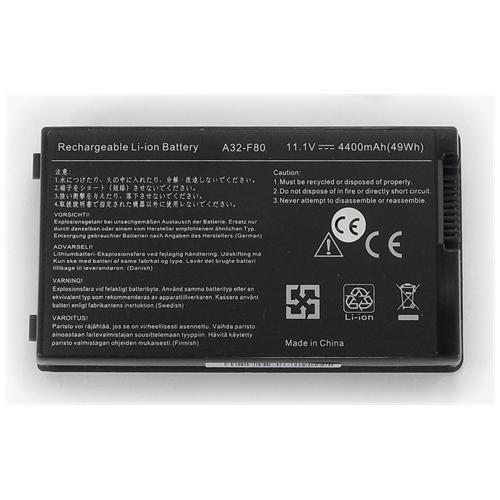 LI-TECH Batteria Notebook compatibile per ASUS F80L-4P019E 6 celle 4400mAh nero 4.4Ah