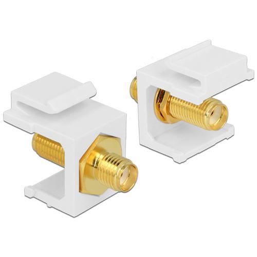 DeLOCK 86365 SMA SMA Bianco cavo di interfaccia e adattatore