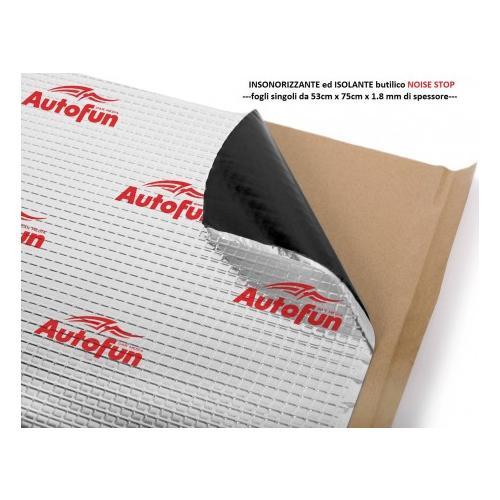 Autofun Insonorizzanteed Isolante butilico 1 foglio da 53cm x 75cm x 1.8 mm di spessore