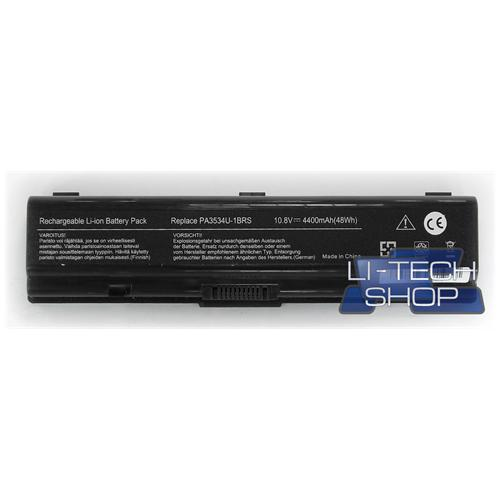 LI-TECH Batteria Notebook compatibile per TOSHIBA SATELLITE SA A200-1L8 SA2001L8 10.8V 11.1V nero
