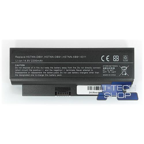 LI-TECH Batteria Notebook compatibile per HP COMPAQ 530974-251 4 celle nero 2.2Ah