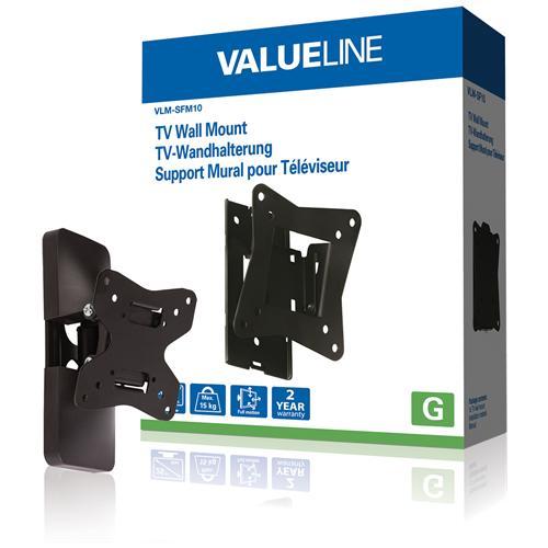 """VALUELINE Supporto TV da parete ruotabile da 10 - 26"""" / 25 - 66 cm 15 kg"""