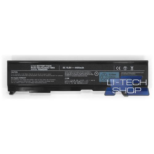 LI-TECH Batteria Notebook compatibile per TOSHIBA PA345IU-1BRS 10.8V 11.1V pila 48Wh