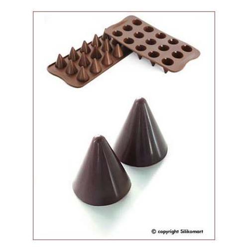 Silikomart Stampo cioccolato coni easy choc 35x30mm h. 16mm 112.5ml silicone