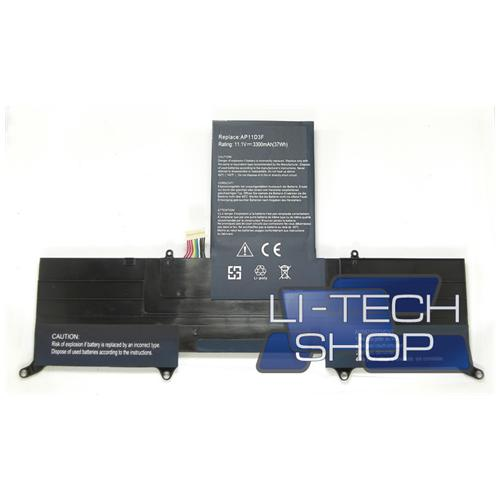 LI-TECH Batteria Notebook compatibile 3300mAh per ACER ASPIRE C720P 3 celle nero pila