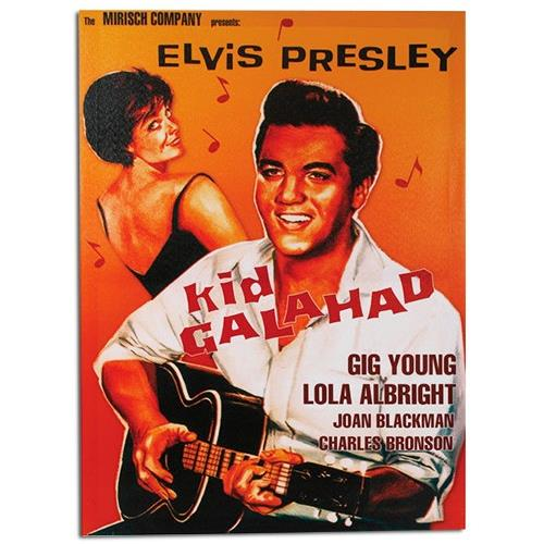 Homania Quadro Elvis Presley Kid Galahad Su Tela Di Lino 50 X 70
