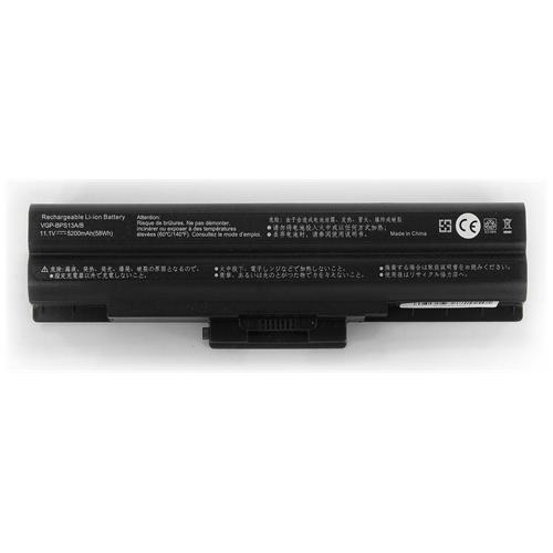 LI-TECH Batteria Notebook compatibile 5200mAh nero per SONY VAIO VGNCS21S-R 10.8V 11.1V pila 57Wh