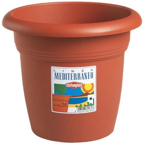 Vaso tondo in polipropilene Ø 25x19H cm Capacità 5 litri