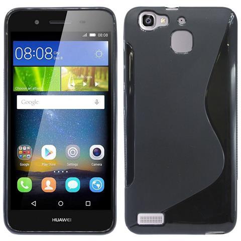 COFI 1453 Custodia In Silicone Huawei P8 Lite Smart Phone Case Cover Nera