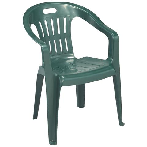 Sedie Plastica Giardino Roma.Ipae Progarden Sedia Da Giardino Colore Verde Modello Piona