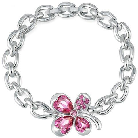 8d0a2829fdc801 Blue Pearls - Bracciale Trifoglio Rosa Cristallo Swarovski Elements - Cry  E101 J - ePRICE