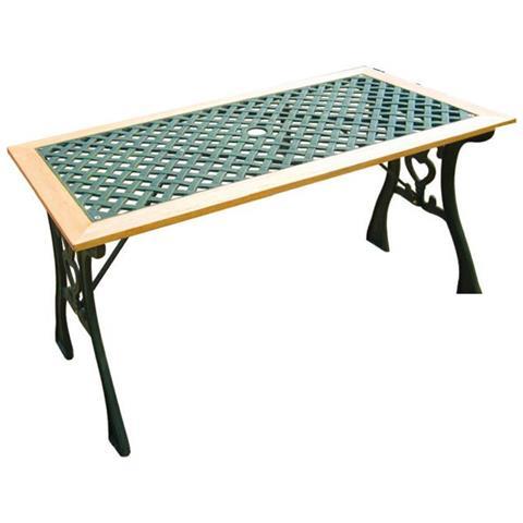 Tavoli Da Giardino In Ghisa.Fratelli Vitale Tavolo Da Giardino Classic In Ghisa E Legno Eprice