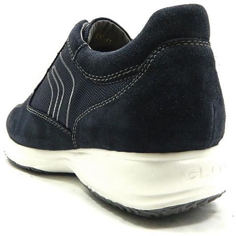 GEOX U Happy G Scarpe Uomo Sneakers Stringate Camoscio Tela Blu - 44 Blu 438c522f1a1