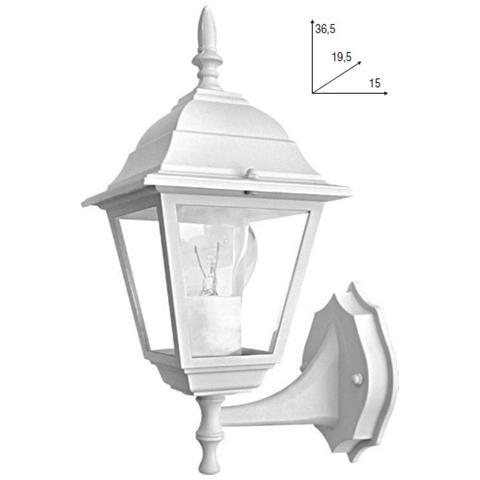 Gt luce - LANT-ROMA / AP1A BCO - Lampada da parete per esterno ...