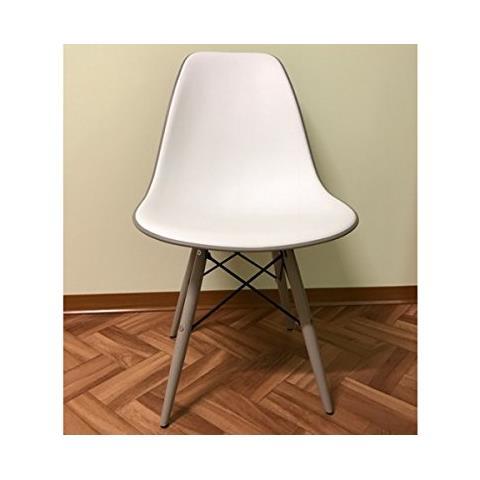 Vintagehome - Sedia Design In Plastica Abs E Gambe In Legno - ePRICE