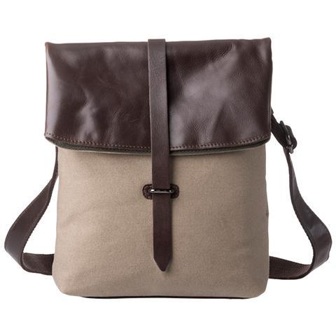 4c15c8e170 DuDu - Borsa A Tracolla Uomo Donna In Pelle E Tessuto Messenger Bag A  Spalla Con Un Look Senza Tempo Marrone Scuro - ePRICE