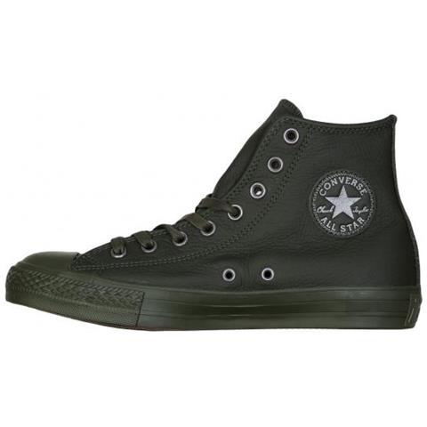... denmark converse all star hi leather verde scuro scarpa tempo libero  unisex us 35 c3488 86956 45e4d2037ff