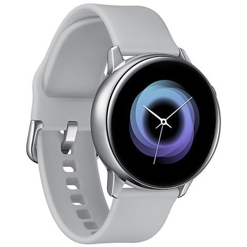 "529e774104 SAMSUNG Galaxy Watch Active Argento Impermeabile 5Atm Display 1,1""  SuperAmoled Sport Notifiche Cardiofrequenzimetro"
