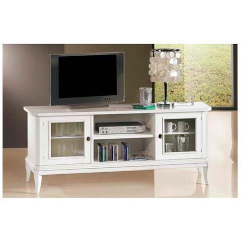 Porta Tv In Stile Classico.Bagno Italia Mobile Porta Tv Bianco Opaco Di Dimensioni