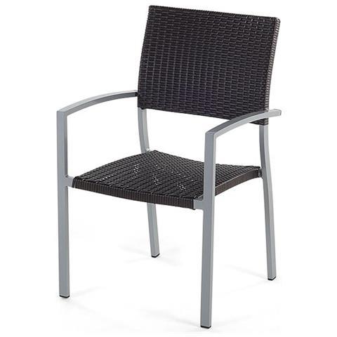 Sedie Da Giardino Alluminio.Beliani Sedia Da Giardino In Alluminio Grigio E Rattan Torino Eprice