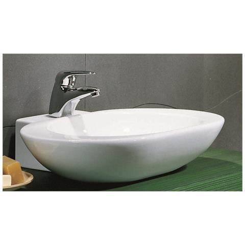 Arredo Bagno In Ceramica.Bagno Italia Lavandino Da Appoggio Moderno In Ceramica Arrotondato Per Mobile Arredo Bagno Eprice