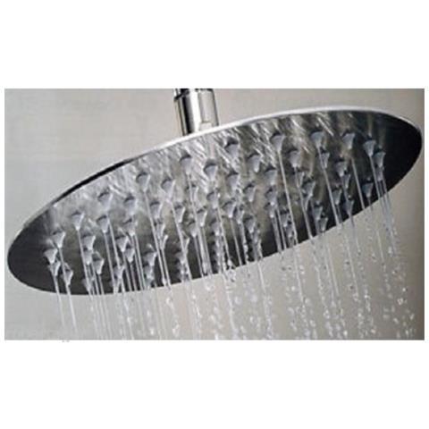 Robertagor Soffione Doccia Rotondo Tondo 30 Cm Bagno Effetto Pioggia Sottile Cromato Shower Eprice
