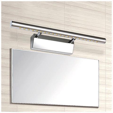 TradeShopTraesio® - Applique Lampada Per Specchio Bagno Da Parete ...
