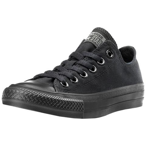 sports shoes online store san francisco converse Scarpe Converse Uomo E Donna In Tela Total Black Basse Taglia 37,5  - 24 Cm