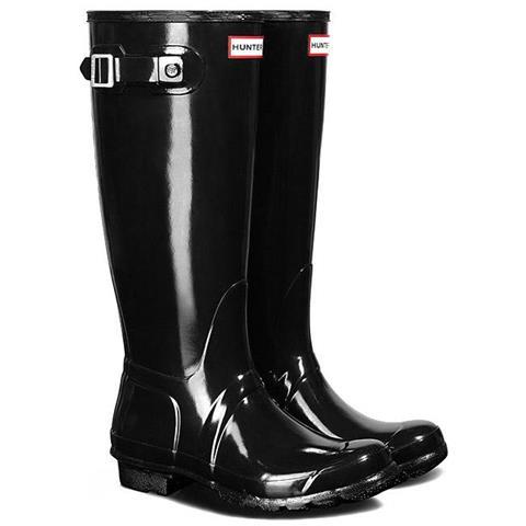 cheap for discount fe952 c94ab HUNTER Stivali E Stivaletti Hunter Original Tall Gloss Rain Scarpe Donna Eu  36