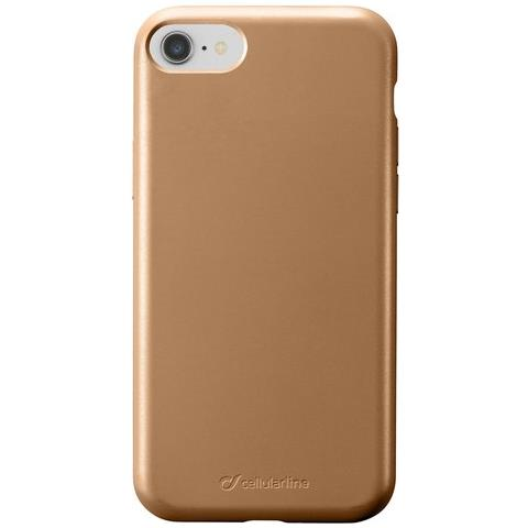 CELLULAR LINE Sensation, Iphone 8, Iphone 7, Iphone 6, Custodia In Silicone Soft Touch, Bronzo - Compatibile Con Ricarica Wireless