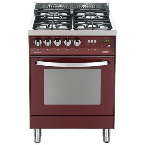 Lofra Cucina A Gas Pr66gvt C 4 Fuochi A Gas Forno A Gas Ventilato Classe A Colore Rosso Burgundy Eprice
