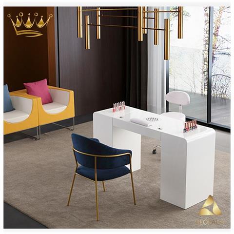 Tavolino da caff/é con vassoio LEGNO tinto bianco Colore 2 in 1
