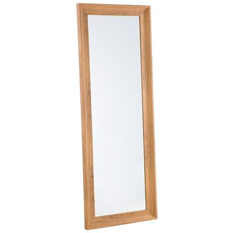 Specchi Moderni Da Parete.Beliani Specchio Moderno Da Parete Con Cornice Marrone 51x141cm