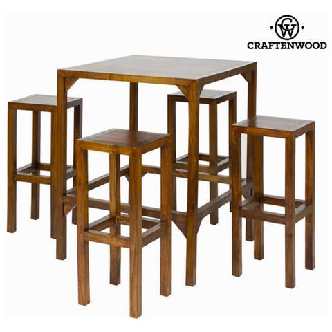 Tavolo alto con sgabelli lampade da tavolo in legno ...