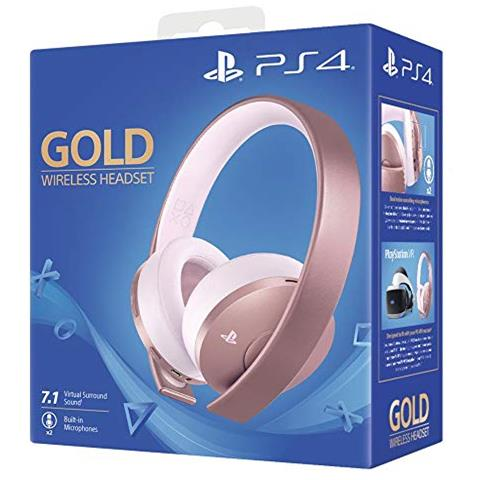 Cuffie Gaming Gold Wireless Colore Oro Rosa per PS4