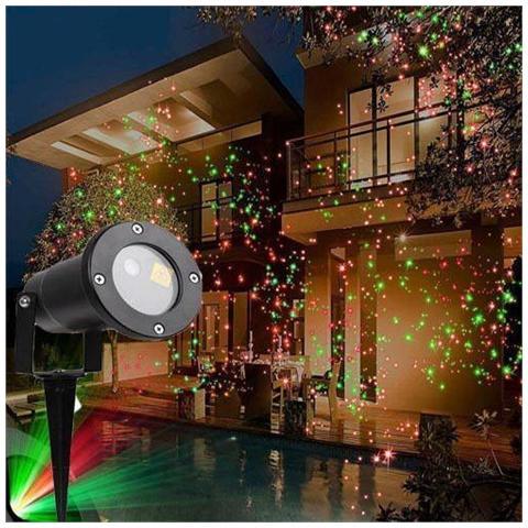 Proiettore Luci Natale Visto In Tv.Esolution Srls Proiettore Laser Luci Di Natale Per Esterno E Interno Con Picchetto Da Terra