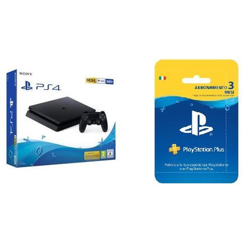 Console Playstation 4 Slim 500GB + PlayStation Plus 3 mesi