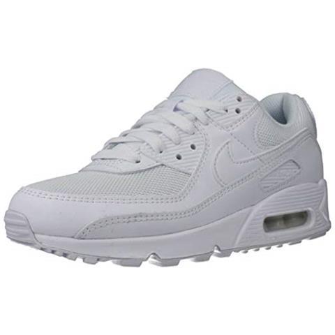 KAPPA Nike Air Max 90 Women's Shoe, Scarpe Da Corsa Donna, Bianco / bianco-bianco-wolf Grigio, 38.5 Eu
