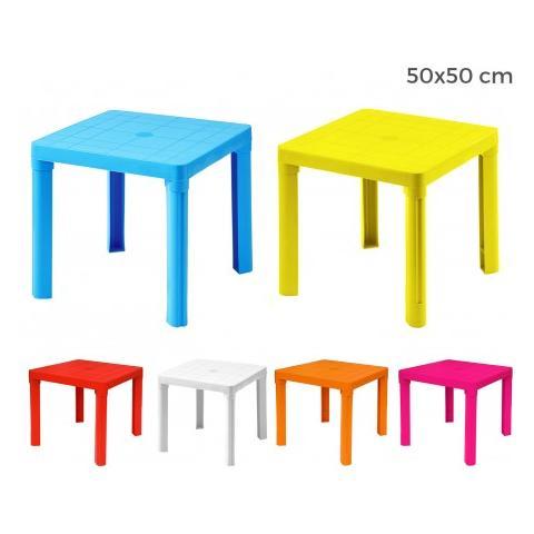 Tavoli Per Bambini In Plastica.Mws 240335 Tavolo Per Bambini In Plastica 50 X 50 Cm Smontabile In