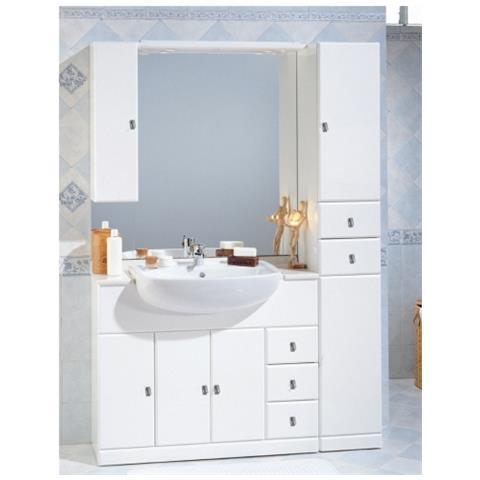 Mobile Bagno A Specchio.Bagno Italia Mobile Bagno 100 30 Cm Arredo Bianco Con Lavabo