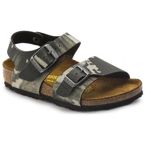 sports shoes 29405 1b08e Birkenstock New York Camo Grey Sandalo Bambino - Calzata Stretta Eur 30