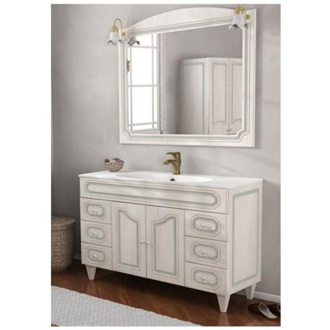 Accessori Bagno In Arte Povera.Bagno Italia Arredo Bagno 120cm Mobile Arte Povera Bianco Decape Con Specchio Mobili Lavandino In Ceramica Eprice