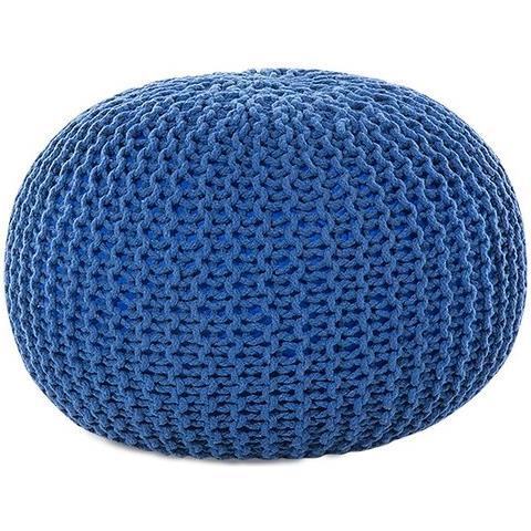 Pouf Poggiapiedi.Beliani Pouf Poggiapiedi In Tessuto Blu 40 X 25 Cm Conrad Eprice