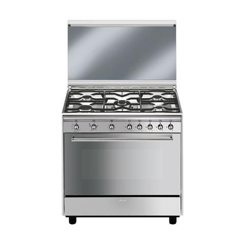 SMEG - Cucina a Gas SX91GVE 5 Fuochi Forno a Gas Classe A Dimensioni ...