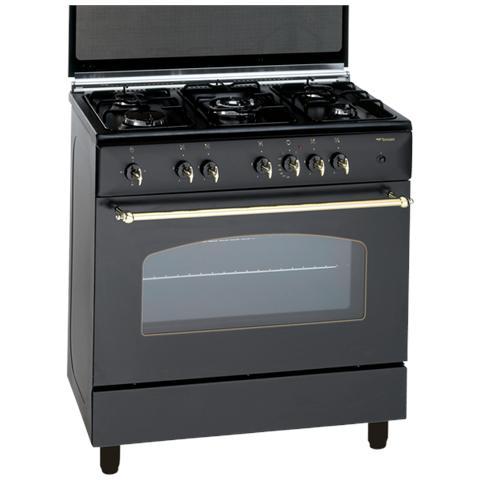 Bompani cucina a gas bo857eb n 5 fuochi a gas forno a gas dimensioni 80 x 50 cm colore nero - Bompani cucine a gas ...