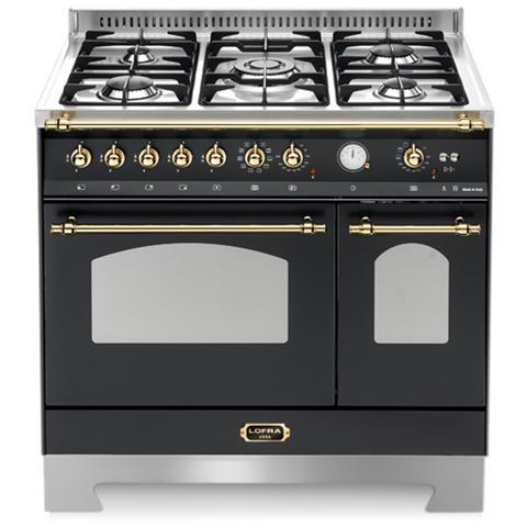 Lofra Cucina Elettrica RRD96MFTE / CI Fuochi a Gas Doppio Forno Elettrico  Dimensione 90 x 60 cm Colore Nero Opaco