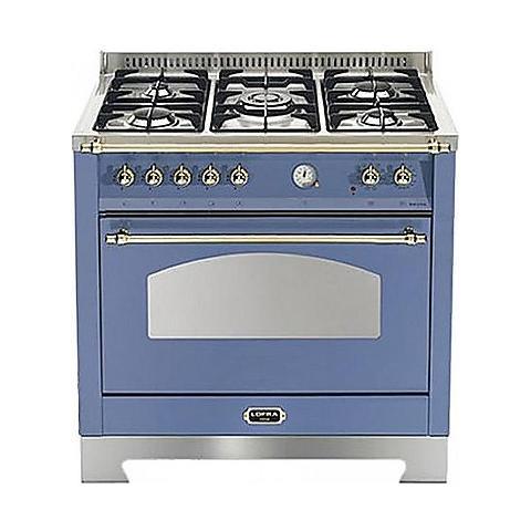Lofra Cucina Elettrica RLVG96MFTE / CI Fuochi a Gas Forno Elettrico  Ventilato Dimensione 90 x 60 cm Colore Lavanda