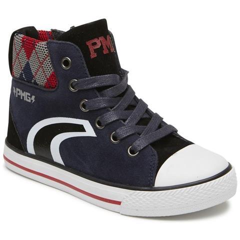 new product 43342 8918e PRIMIGI 2456700 Sneakers Scarpe Alte Bambino Pelle Suede Blu Blu 33